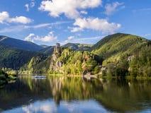 Strecno castle in northern Slovakia. Strecno - a ruin of a medieval castle in northern Slovakia stock image