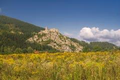 Strecno castle Stock Photo