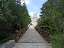 Strecno castle, Slovakia royalty free stock photos