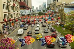 Street decoration in Chinatown in Singapore Royalty Free Stock Photography