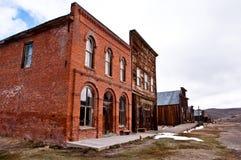 Stree del main della città fantasma Fotografie Stock Libere da Diritti