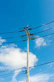 Stree power line Royalty Free Stock Photos