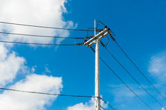 Stree power line Royalty Free Stock Image