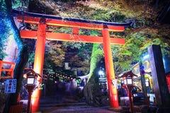 The stree veiw togo Kurama-Temple, Kyoto, Japan Stock Photography