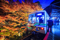 The stree veiw togo Kurama-Temple, Kyoto, Japan Stock Images