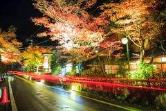 The stree veiw togo Kurama-Temple, Kyoto, Japan Stock Photo
