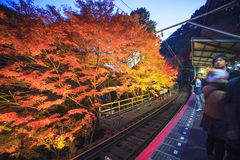 The stree veiw togo Kurama-Temple, Kyoto, Japan Stock Image