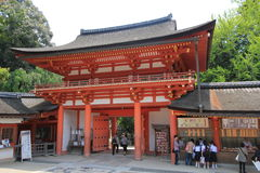 Stree view in Nara Japan stock images