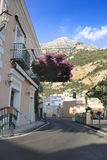 Stree view of Positano village, Italy Royalty Free Stock Photo