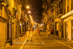 Stree view of San Fermin in Spain Stock Photography