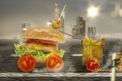 Streedfood na estrada imagem de stock royalty free