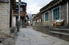 Streeet in Jomsom, Nepal Stock Image