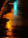 Streeet molhado Fotografia de Stock