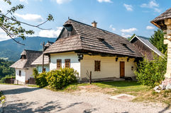 In The Streeet Wooden Settlement Vlkolinec. In The Street Wooden Settlement Vlkolinec - Slovakia Stock Photos