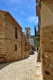 Streeets of the small spanish town Benassal. Royalty Free Stock Images