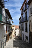 Streeets of the small spanish town Benassal. Royalty Free Stock Photography