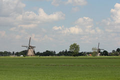 Streefkerk Windmills Stock Photography
