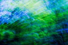 Streek astratto blu e verde Fotografie Stock Libere da Diritti