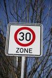 30 streekverkeersteken Stock Afbeeldingen