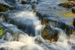 Streem. Beautiful cascade waterfall in autumn morning Royalty Free Stock Image