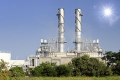 Streem power plant with pollution Stock Photography