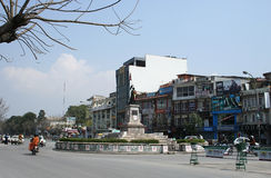 On streen à Katmandou - un capital du Népal Photo stock