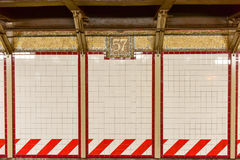57. Streen-U-Bahnstation - Manhatan, New York Stockfoto