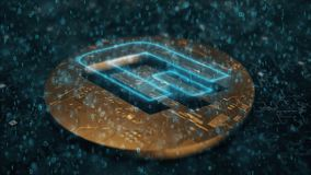 Streepje digitale cryptocurrency vector illustratie