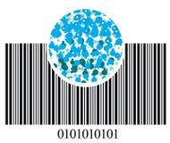 Streepjescode en bellen Royalty-vrije Stock Fotografie