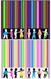 Streepjescode en jonge geitjes vector illustratie