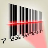 Streepjescode met laserlicht. EPS 8 Stock Foto's