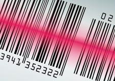 Streepjescode met rode laserstraal Stock Afbeeldingen