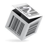 Streepjescode op doos Royalty-vrije Stock Foto's