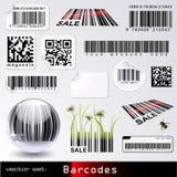 Streepjescode-reeks stock illustratie