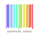 Streepjescode in regenboogkleuren vector illustratie