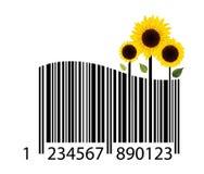 Streepjescode van bloem stock illustratie