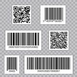 Streepjescode Vastgestelde Vector Qr cide De universele Code van het Productaftasten royalty-vrije illustratie