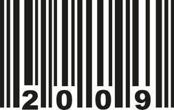 Streepjescode 2009 vector royalty-vrije illustratie