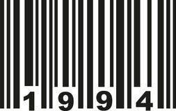 Streepjescode 1994 vector stock illustratie