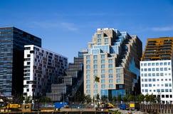 Streepjescodegebouwen in de stadscentrum van Oslo Royalty-vrije Stock Afbeeldingen