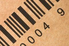 Streepjescodes op een doos Stock Afbeelding