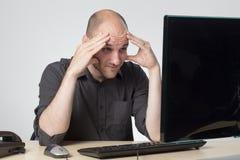 Streesed et obtention d'une migraine Photos libres de droits