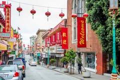 In streests van de Stad van China in San Francisco Royalty-vrije Stock Foto's