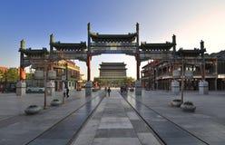Streetã рекламы Qianmen городского пейзажа Пекин Стоковые Фото
