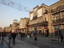 Streetã del anuncio publicitario de Pekín Qianmen Foto de archivo libre de regalías