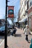 Street (亚历山大,弗吉尼亚)国王 库存照片