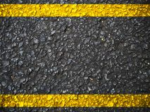 Street. Asphalt with yellow lines stock illustration