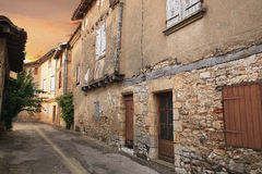 Street. Empty street in a very old village in provance Royalty Free Stock Photography