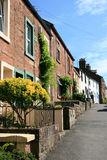 Street. A street in a typical English village stock photo