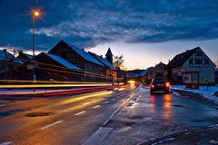 A street. A village street in the dusk Stock Images